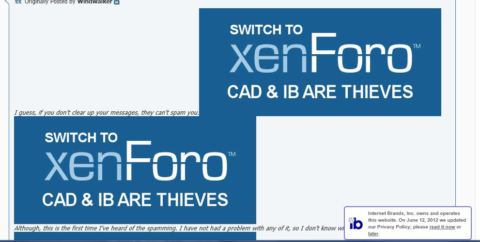 Internet Brand vs. Xenforo